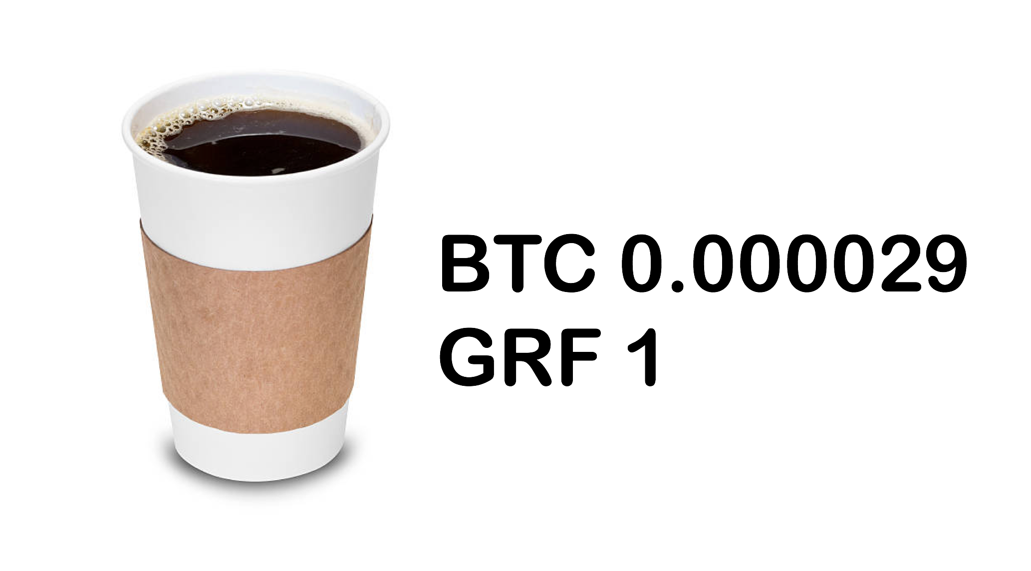 Price Cup of Coffee Bitcoin vs GRAFT